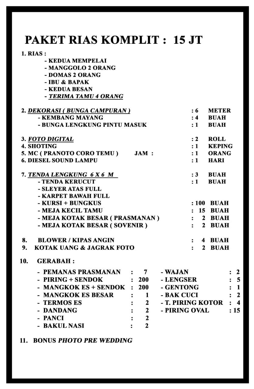 Paket Pernikahan Kediri Budget 15 Juta by Antok Lim Wedding Gallery